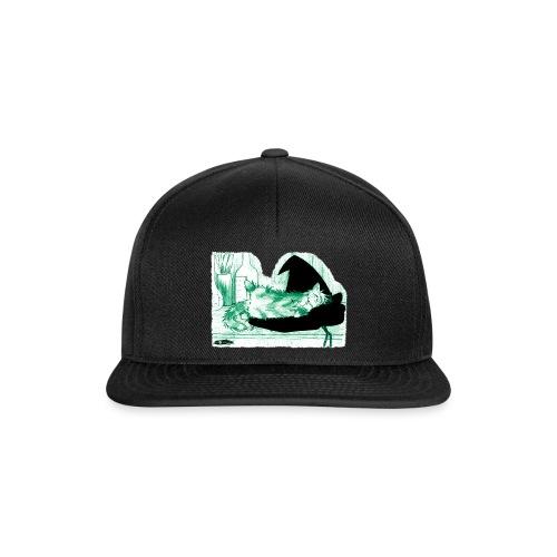 Tyrrin Hexenkater auf Hut (grün) - Snapback Cap