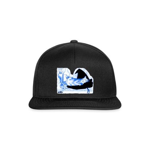 Tyrrin Hexenkater auf Hut (blau) - Snapback Cap
