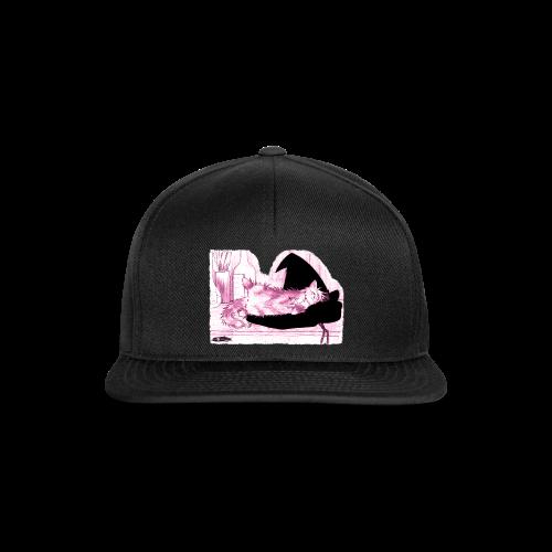 Tyrrin Hexenkater auf Hut (violett) - Snapback Cap