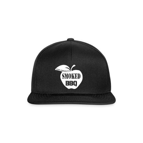 Smoked BBQ logo valkoinen - Snapback Cap