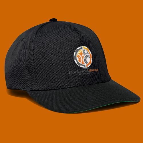Clockwork-Orange Community Logo mit Schrift - Snapback Cap