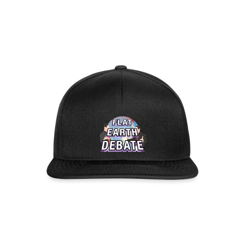 Flat Earth Debate Solid - Snapback Cap