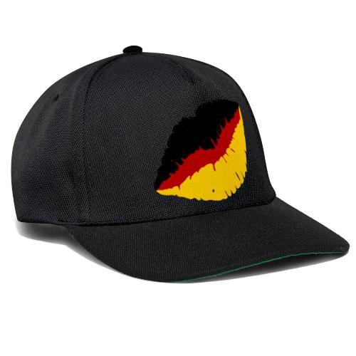 Deutschland Lippen Motiv - Snapback Cap
