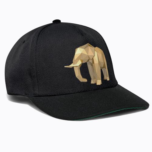 elephant geometric - Snapback Cap