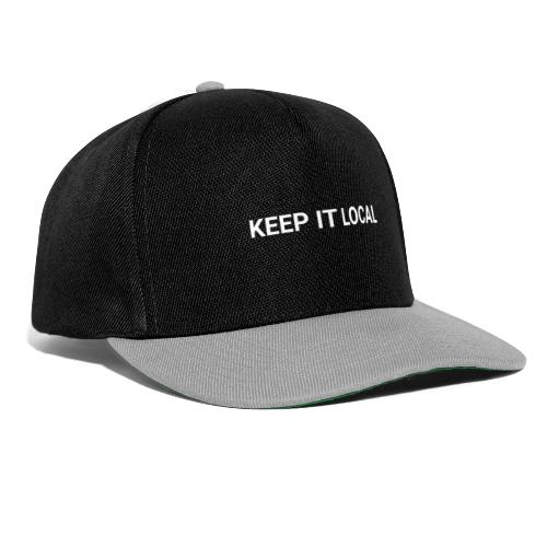 KEEP IT LOCAL - COPY WHITE - Czapka typu snapback