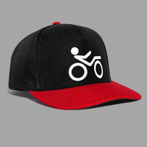 Recumbent bike white 2 - Snapback Cap
