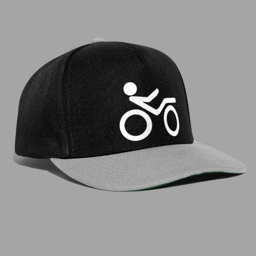 Recumbent bike white 2 - Snapback Cap