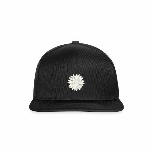 White Flower - Snapback Cap