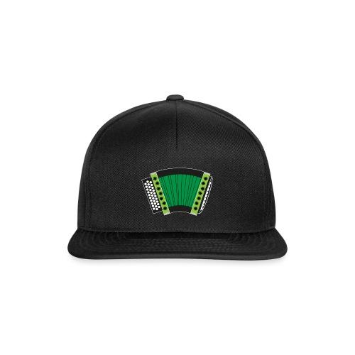Schwyzerörgeli grün schwarzer Hintergrund - Snapback Cap