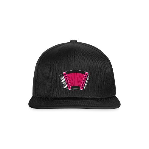 Schwyzerörgeli pink schwarzer Hintergrund - Snapback Cap