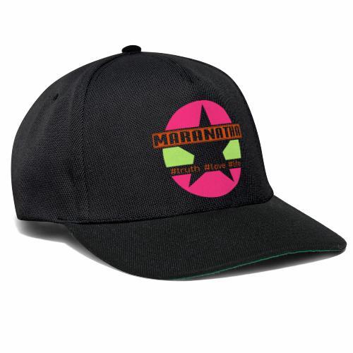 maranatha rosa-grün - Snapback Cap