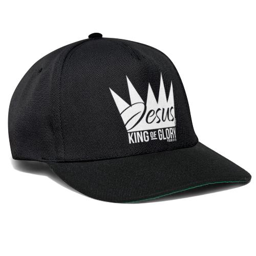 JESUS KING OF GLORY // Psalm 24:10 (WHITE) - Snapback Cap