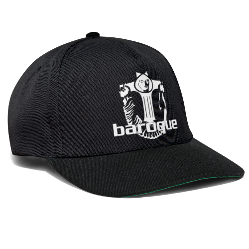 Baroque Records Logo Black - Snapback Cap