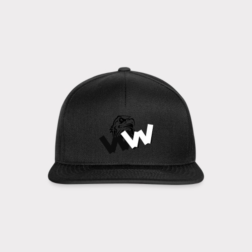 White and Black W with eagle - Snapback Cap