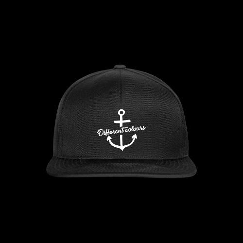 Different Colours White Logo - Snapback Cap