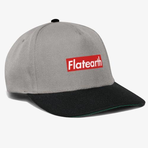Red Flat Earth Box Logo - Snapback Cap
