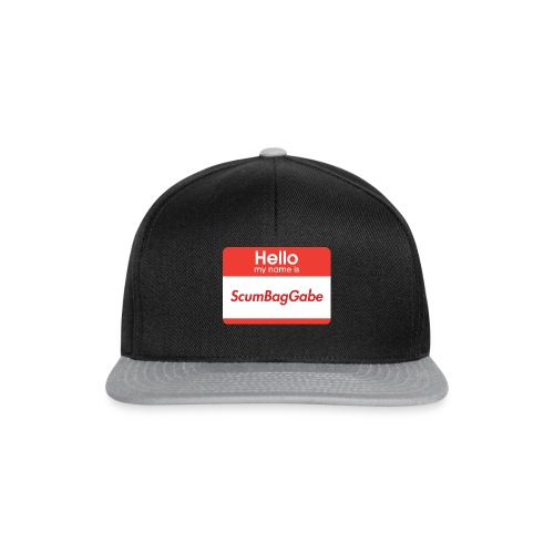 Hello My Name Is ScumBagGabe - Snapback Cap