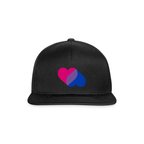 Bisexual Double Heart - Snapback Cap