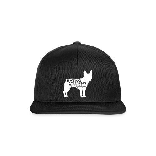 French Bulldog - Eat, Sleep, Fart & Repeat - Snapback Cap
