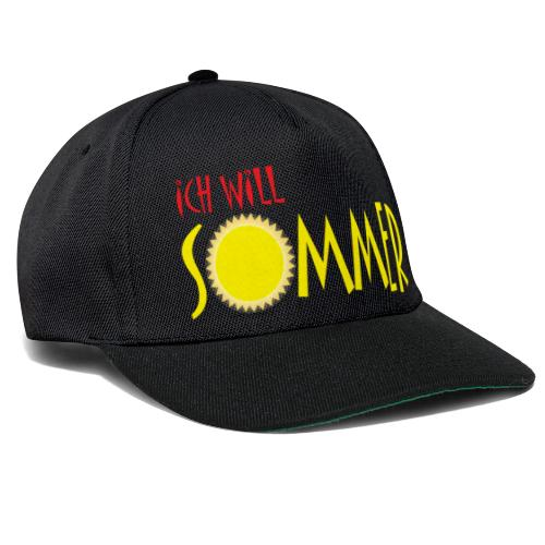 Ich will Sommer - Snapback Cap