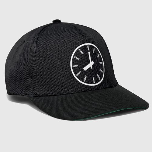 HORNY white png - Snapback Cap