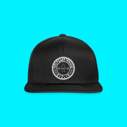 logo white economy png - Snapback Cap