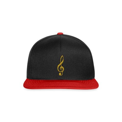 Goldenes Musik Schlüssel Symbol Chopped Up - Snapback Cap