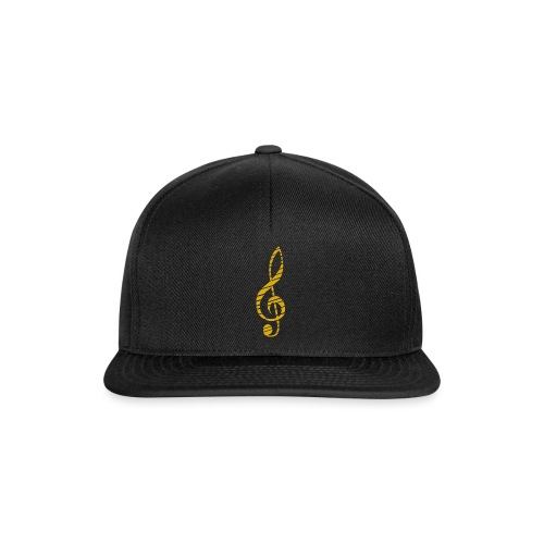 Goldenes Musik Schlüssel Symbol Chopped Up - Snapback Cap