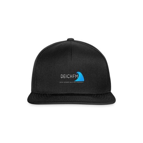 DeichFm Dein Sender aus dem Norden Logo Weiß - Snapback Cap