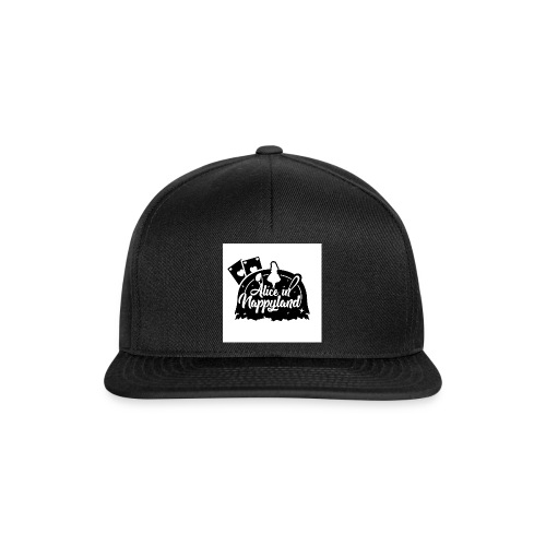 Alice in Nappyland TypographyWhite with background - Snapback Cap