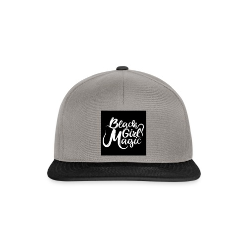 Black Girl Magic 1 White Text - Snapback Cap