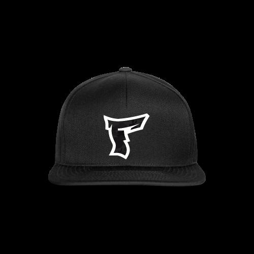 Tarnmuster mit F Logo in Weiß - Snapback Cap