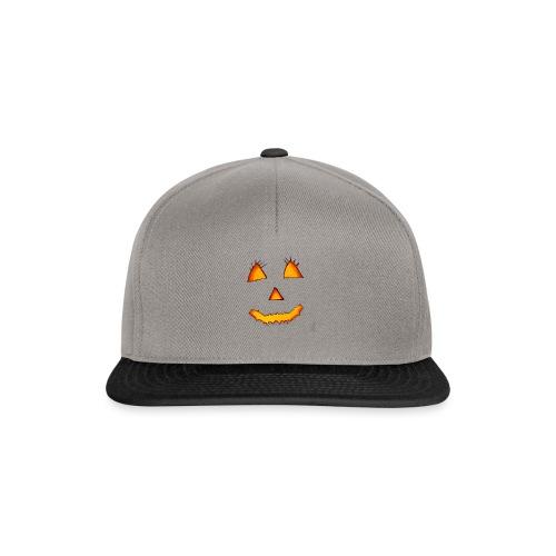 HALLOWEEN Gruselig lächelndes Kürbis Gesicht. - Snapback Cap