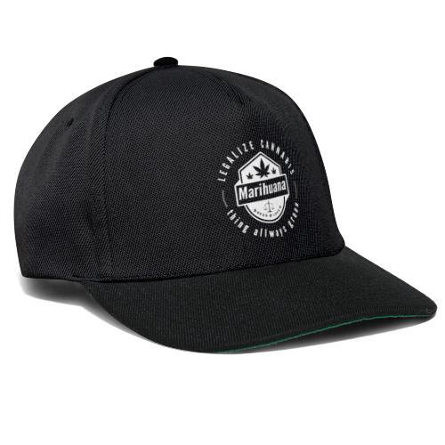 Think allways green - Legalize cannabis - Snapback Cap
