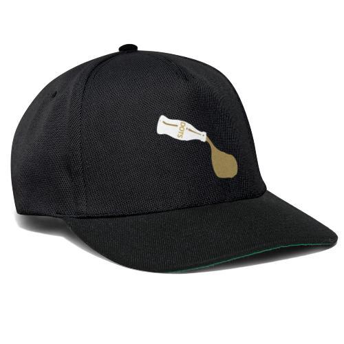 White Bottle Dots - Snapback Cap