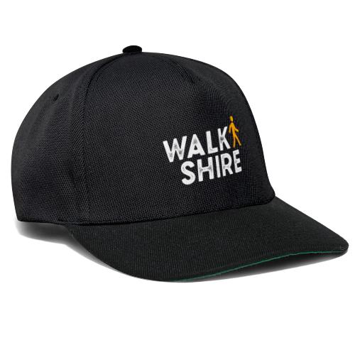 white Walkshire logo - Snapback Cap