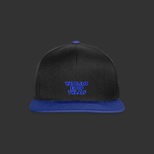 wat rijmt er op twaalf - Snapback cap