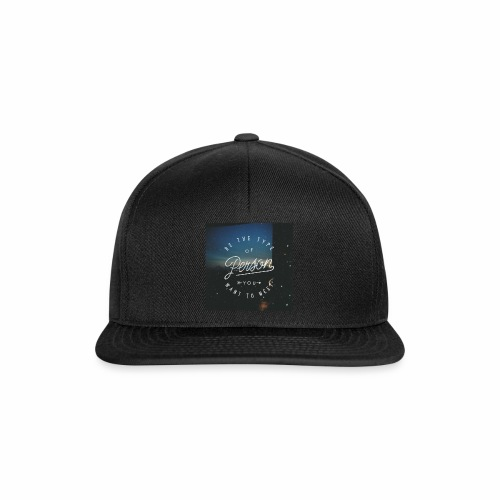 inspirational quote - Snapback Cap