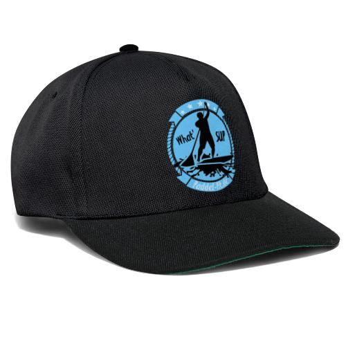 What`SUP. SUP Board Stand Up Paddling Sport - Snapback Cap