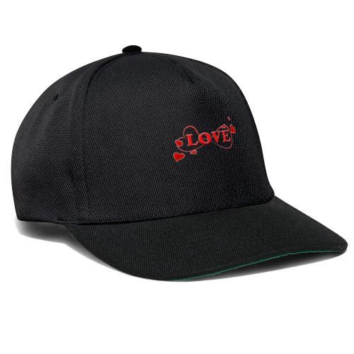 Love forever mit Herzchen, Valentinstag, Liebe - Snapback Cap