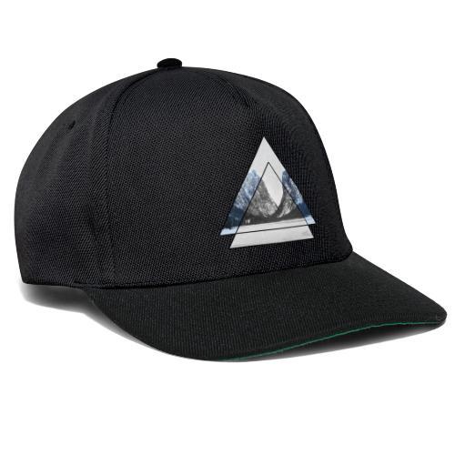 mountains geometric triangular landscape - Snapback Cap