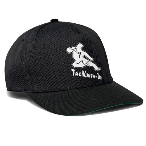 Taekwondo flying kicking man - Snapback Cap
