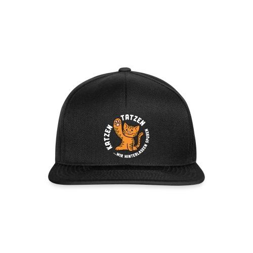 Katzentatzen Logo auf schwarz - Snapback Cap