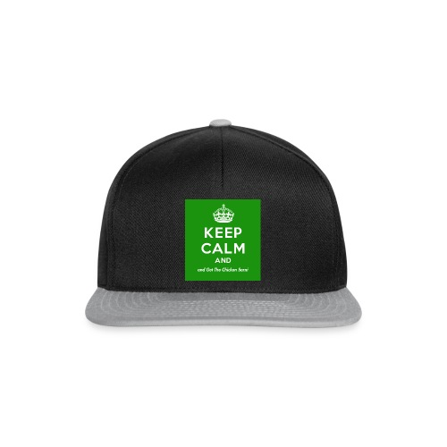 Keep Calm and Get The Chicken Sarni - Green - Snapback Cap