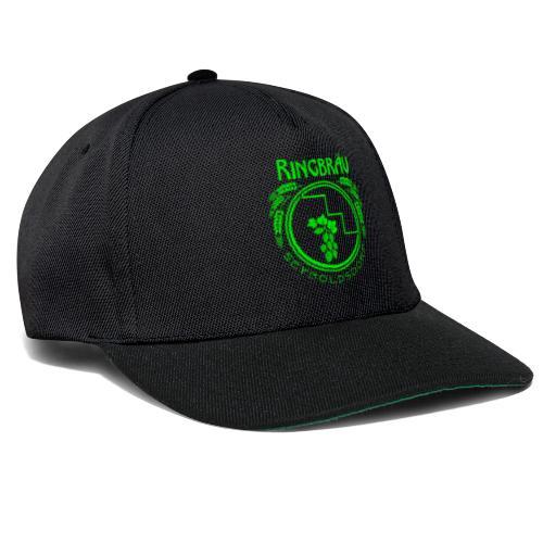 ringbraeu green scanline - Snapback Cap