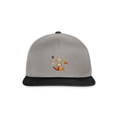 Sam_the_Robot – Vitruvian Design - Snapback Cap