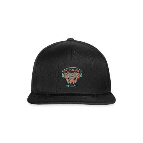 Be happy Mops and enjoy / Genießer Hunde Leben - Snapback Cap