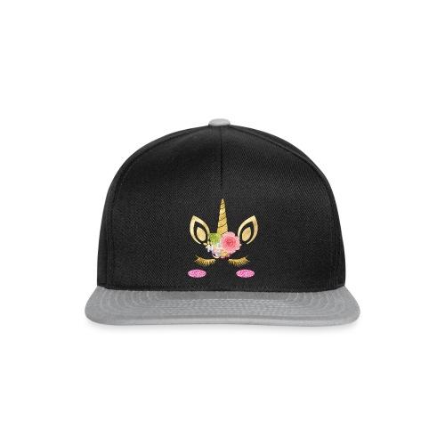 unicorn face - Snapback Cap