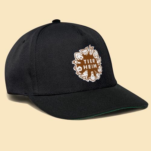 Tierheim Logo braunweiss - Snapback Cap