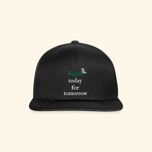 Vegan today for tomorrow - Snapback Cap